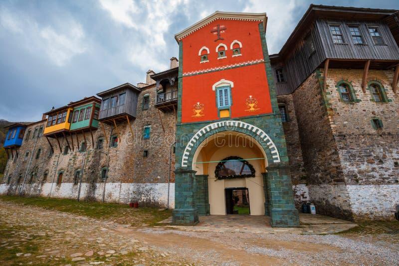 Monastère de Philotheou sur le mont Athos photos stock