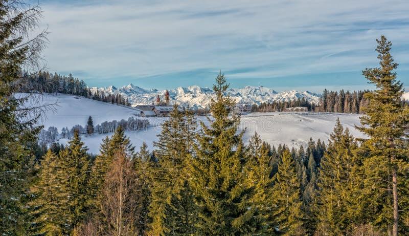 Monastère de Pietralba près de Monte San Pietro, Nova Ponente, Tyrol du sud, Italie Le sanctuaire le plus important du Tyrol du s photos stock