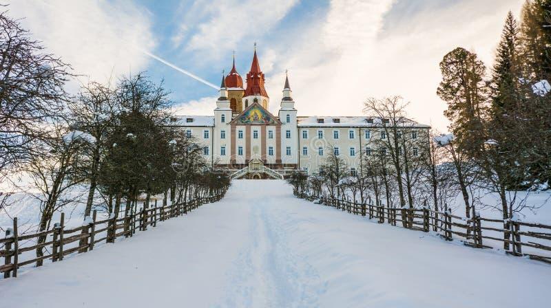 Monastère de Pietralba près de Monte San Pietro, Nova Ponente, Tyrol du sud, Italie Le sanctuaire le plus important du Tyrol du s photos libres de droits