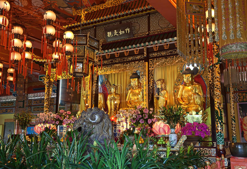 Monastère de PO Lin image libre de droits