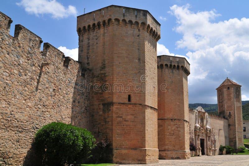 Monastère de Poblet photo stock
