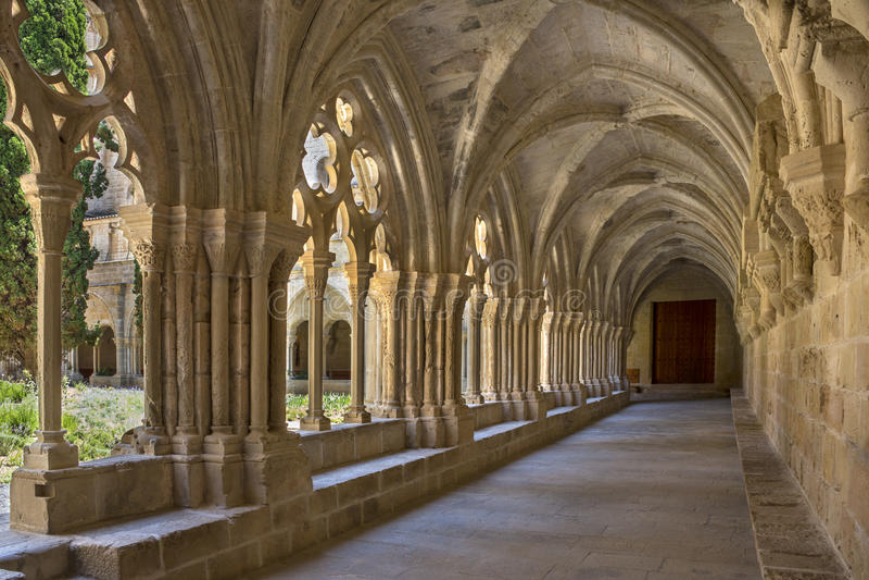 Monastère de Poblet - Catalogne - Espagne images stock