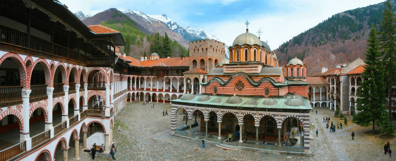 Monastère de Rila, Bulgarie photographie stock