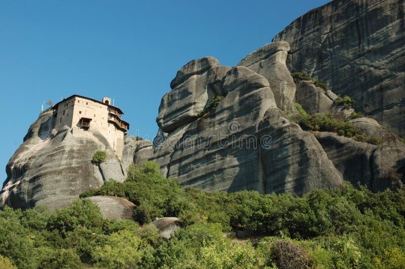 Monastère de roche de Nikolaos d'agios, Meteora, Grèce image stock