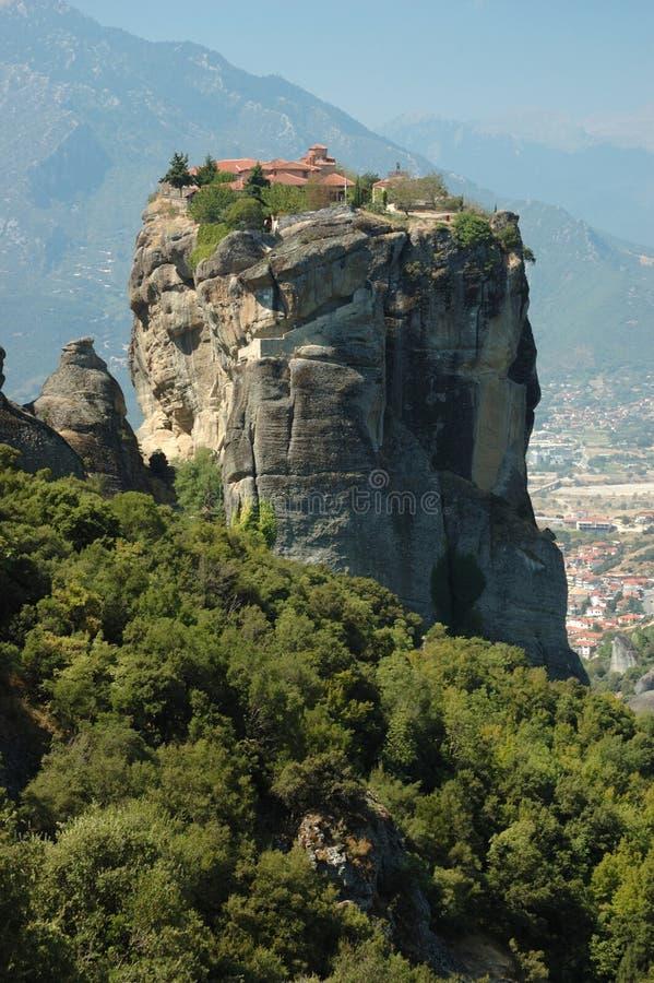 Monastère de roche de trinité sainte, Meteora, Grèce photo libre de droits