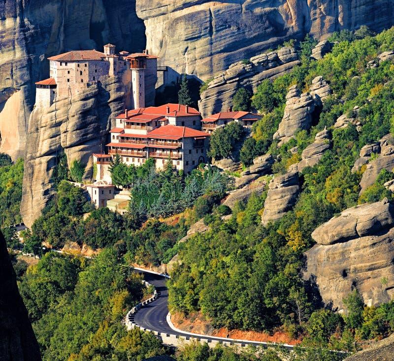 Monastère de Roussanou chez Meteora, Grèce photographie stock