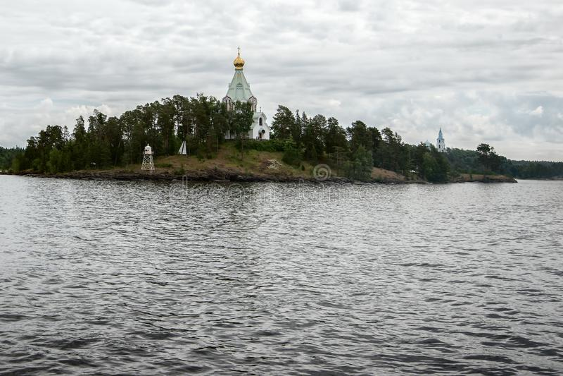 Monastère de Saint-Nicolas - avant-poste de l'île de Valaam photographie stock
