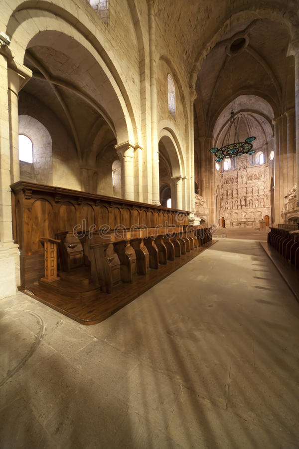 Monastère de Santa Maria de Poblet photo stock