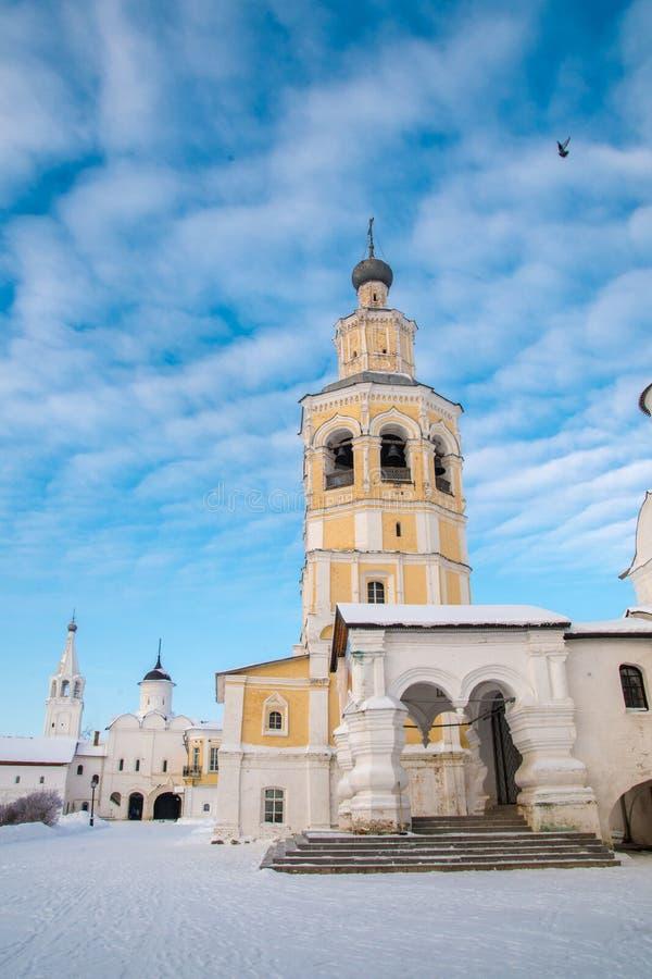 Monastère de Spaso Prilutskiy dans Vologda images libres de droits