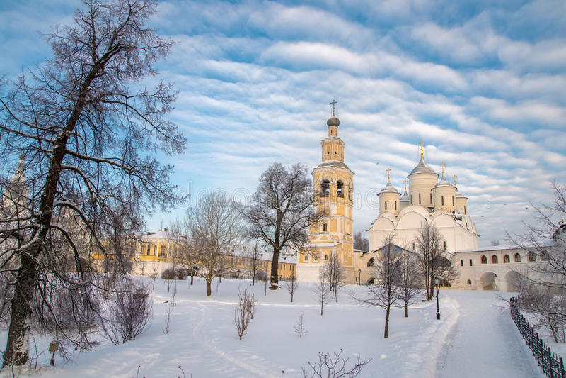 Monastère de Spaso Prilutskiy dans Vologda image libre de droits