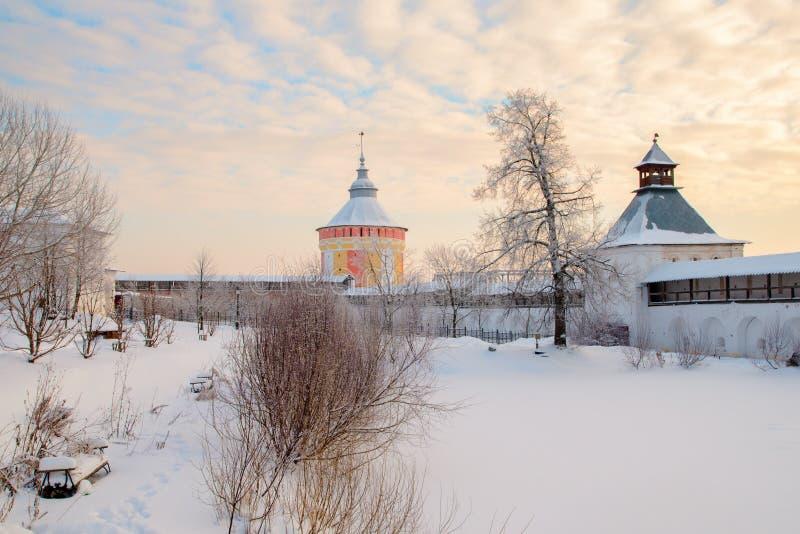 Monastère de Spaso Prilutskiy dans Vologda photographie stock libre de droits