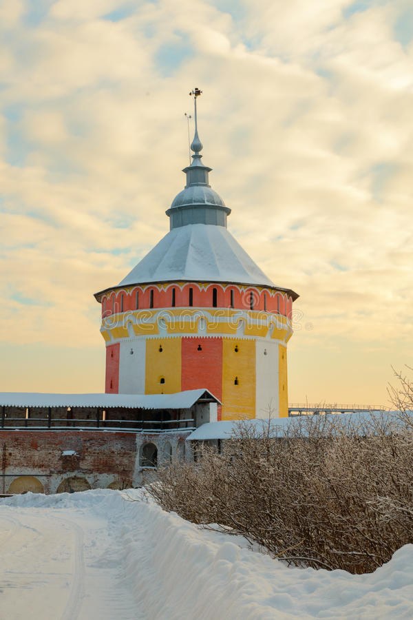 Monastère de Spaso Prilutskiy dans Vologda image stock