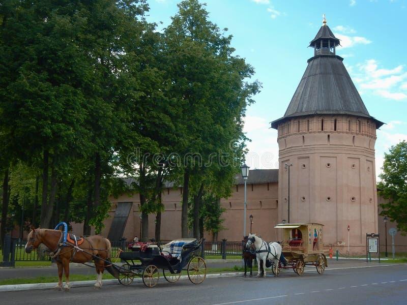 Monastère de St Euthymius dans Suzdal image stock