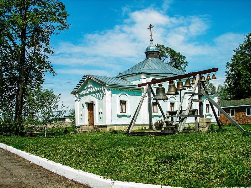 Monastère de St George dans la ville russe de la région de Meshchovsk Kaluga photos libres de droits