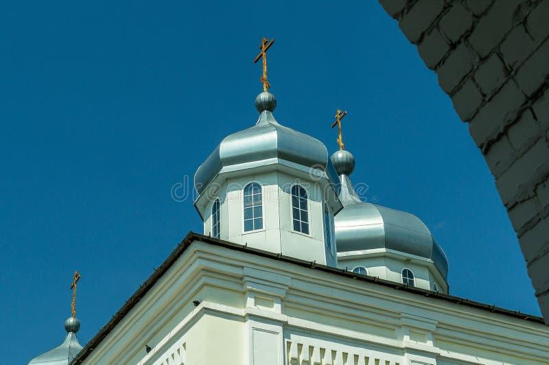 Monastère de St George dans la ville russe de la région de Meshchovsk Kaluga images stock