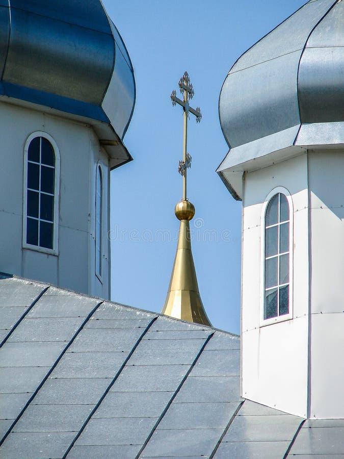 Monastère de St George dans la ville russe de la région de Meshchovsk Kaluga images libres de droits