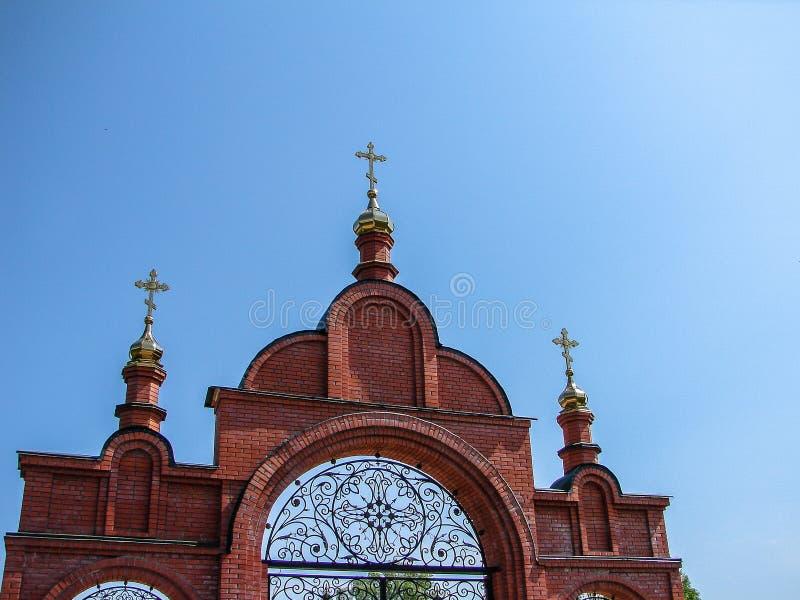 Monastère de St George dans la ville russe de la région de Meshchovsk Kaluga photographie stock