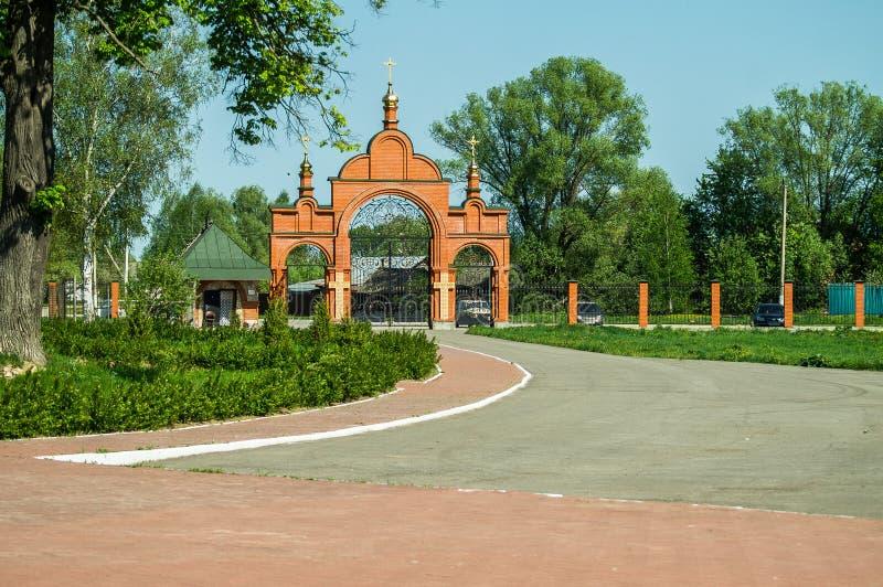Monastère de St George dans la ville russe de la région de Meshchovsk Kaluga image stock