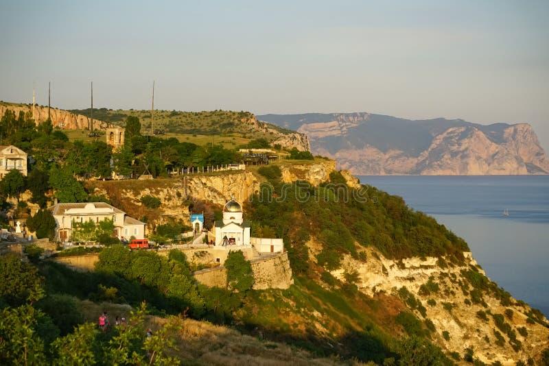 Monastère de St George sur le cap de Fiolent près de Sébastopol crimea photographie stock libre de droits