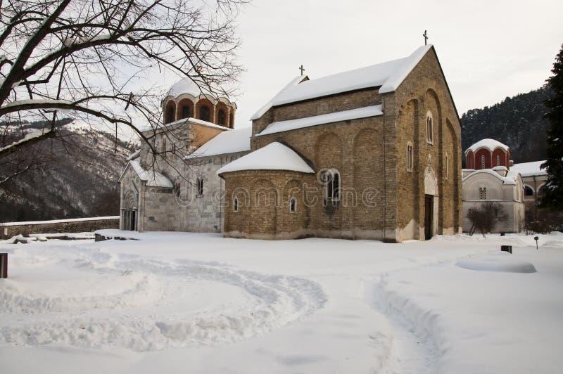 Monastère de Studenica image libre de droits