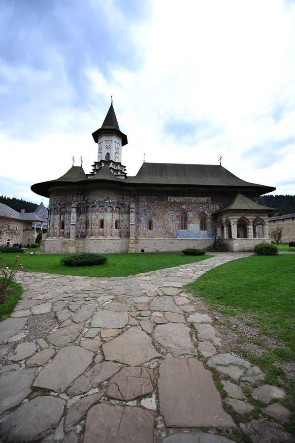 Monastère de Sucevita, Moldavie (Bucovina), Roumanie images stock