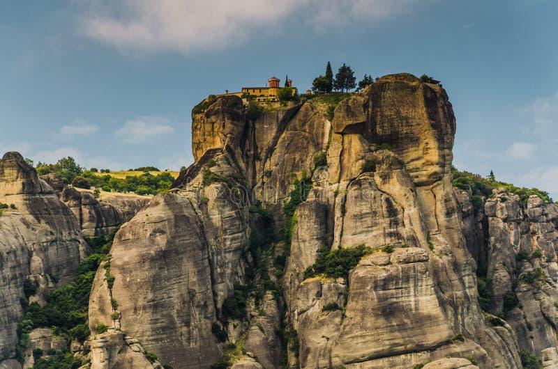 Monastère de trinité sainte de monastères de Meteora sur la roche près de Kalabaka, Grèce photographie stock