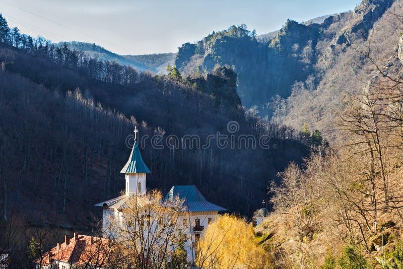 Monastère de Turnu chez Cozia Valcea photo stock