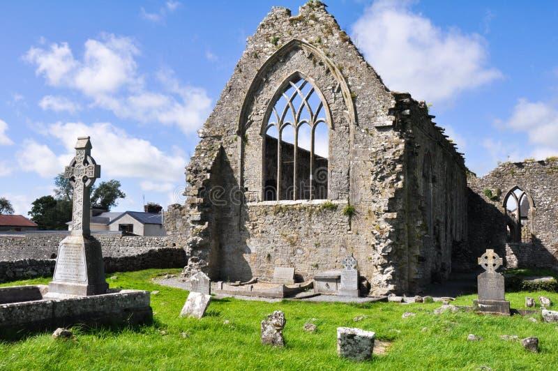 Monastère dominicain d'Athenry, Irlande photographie stock libre de droits