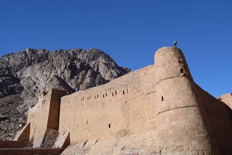 Monastère du 4ème siècle du ` s de St Catherine, base de Mt Sinai, Egypte photo libre de droits