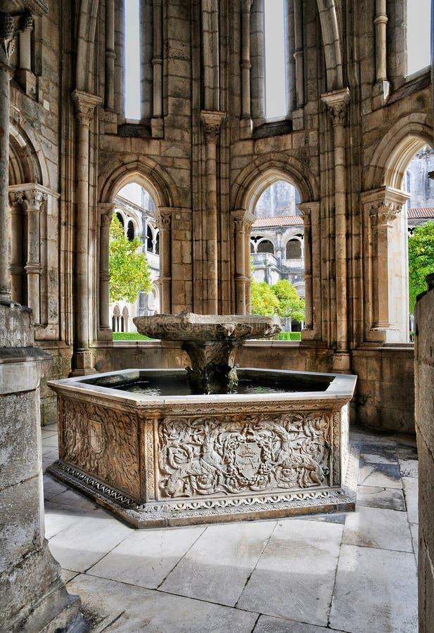 Monastère du Portugal, historique et du pisturesque d'Alcobaca images libres de droits