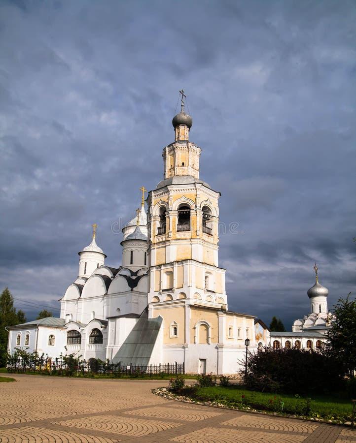 Monastère du ` s d'hommes de Spaso-Prilutskiy Dimitriev, Vologda Russie photos libres de droits