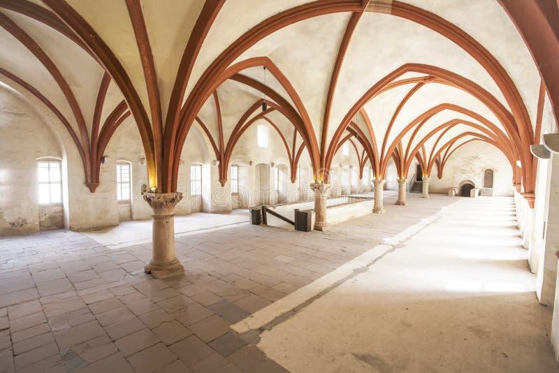 Monastère Eberbach Allemagne de dortoir de moines image stock