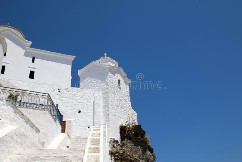 Monastère en île de Skopelos photo libre de droits