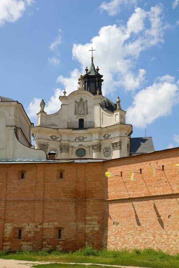 Monastère - forteresse des Carmélites, Berdychiv images libres de droits