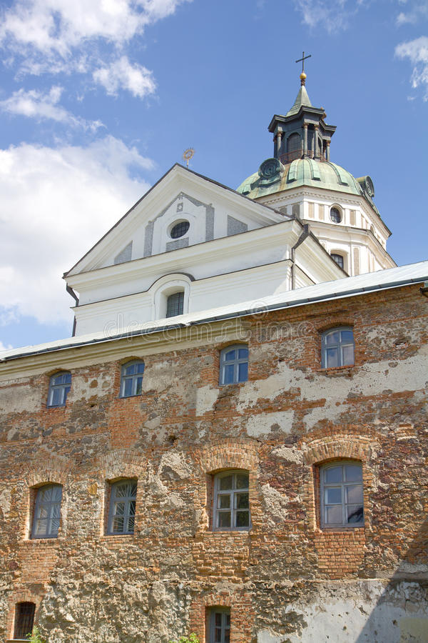 Monastère - forteresse des Carmélites, Berdychiv photo stock