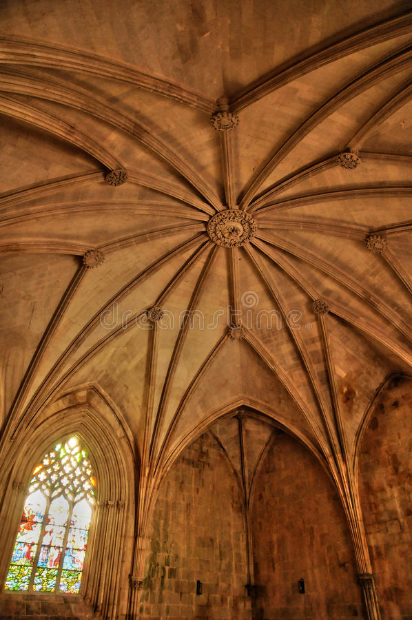 Monastère historique de Batalha au Portugal images libres de droits