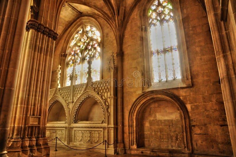 Monastère historique de Batalha au Portugal photographie stock libre de droits