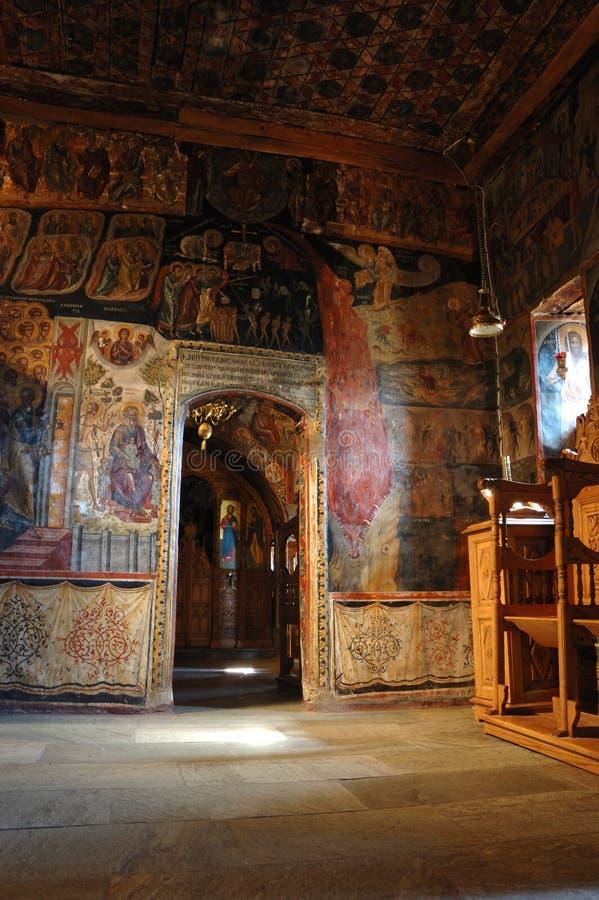 Monastère intérieur de Nikolaos d'agios, Meteora, Grèce photographie stock libre de droits