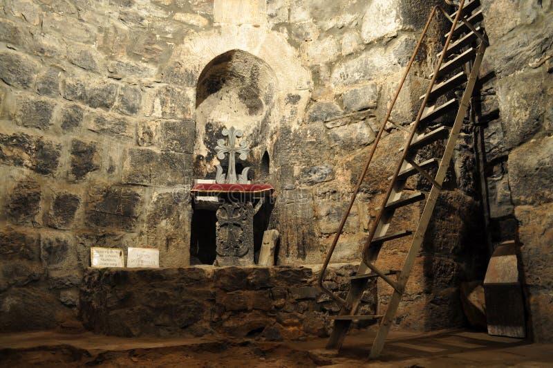 Monastère Khor Virap de cachot photos stock