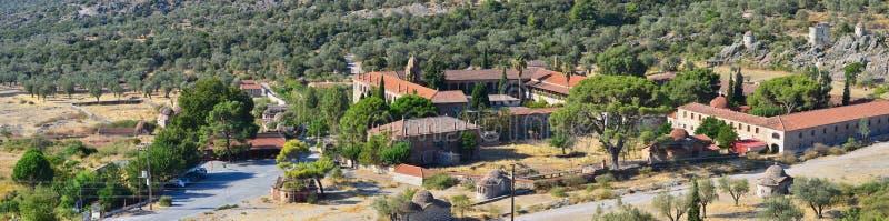 Monastère Limonos, panorama, île Lesbos photo stock