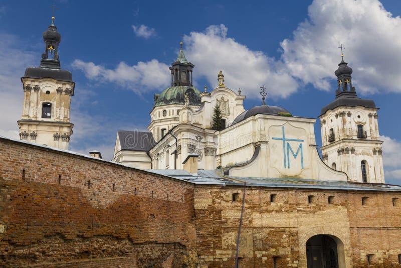 Monastère médiéval des Carmélites Discalced Berdychiv, Ukraine images stock