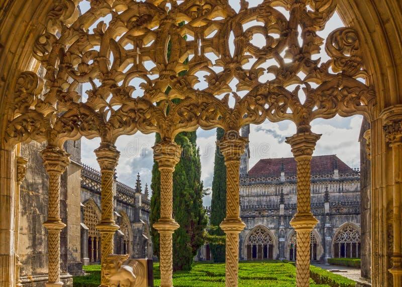 Monastère médiéval dominicain du Portugal Batalha, art gothique Unes images stock