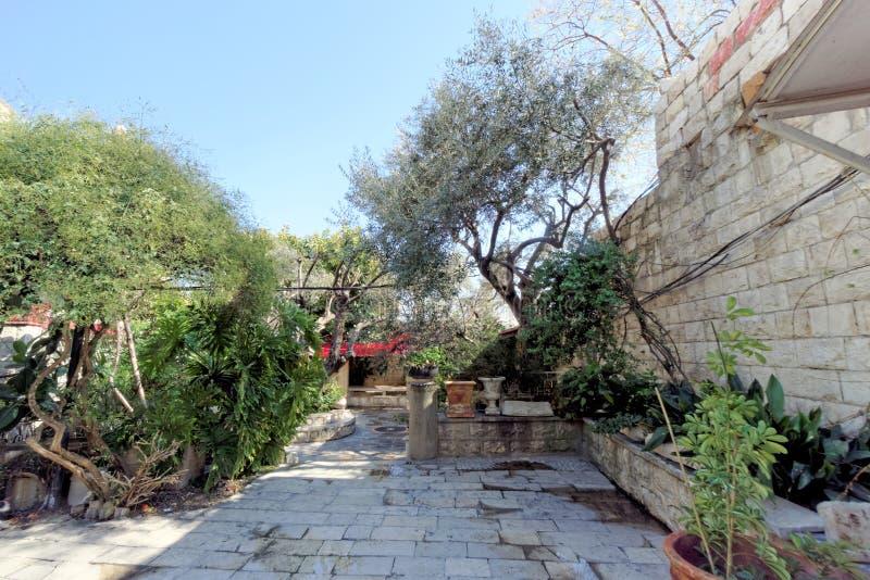 Monastère orthodoxe au-dessus de bien de Jacob dans Nablus en Palestine photo stock