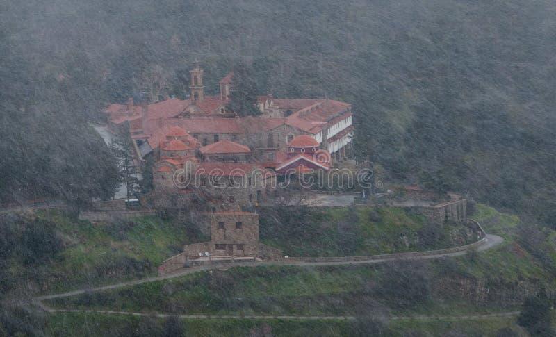 Monastère orthodoxe célèbre de Machairas en Chypre photographie stock
