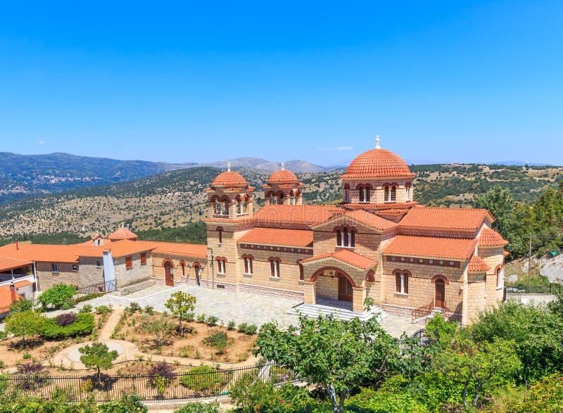 Monastère orthodoxe chrétien dans Malevi, Péloponnèse, Grèce photo libre de droits
