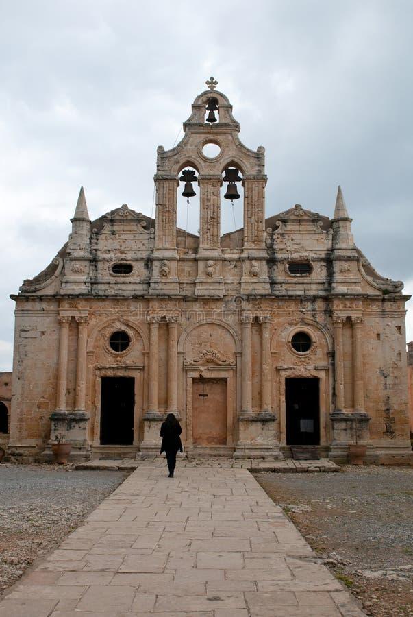 Monastère orthodoxe d'Arkadi à Rethymnon, Grèce photo libre de droits