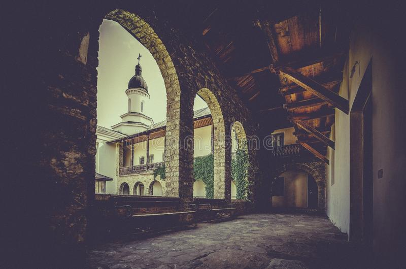 Monastère orthodoxe de› de NeamÈ en Roumanie image libre de droits