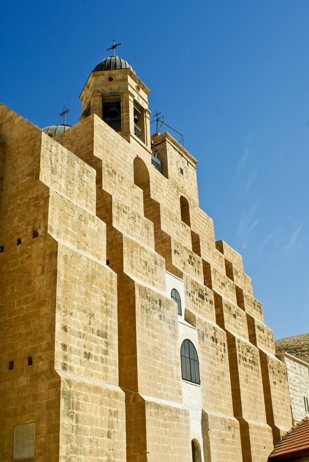 Monastère orthodoxe grec de mars Saba (rue Saba) I photographie stock libre de droits