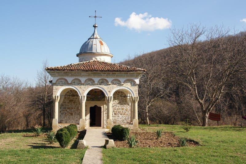 Monastère orthodoxe rocheux antique type image libre de droits