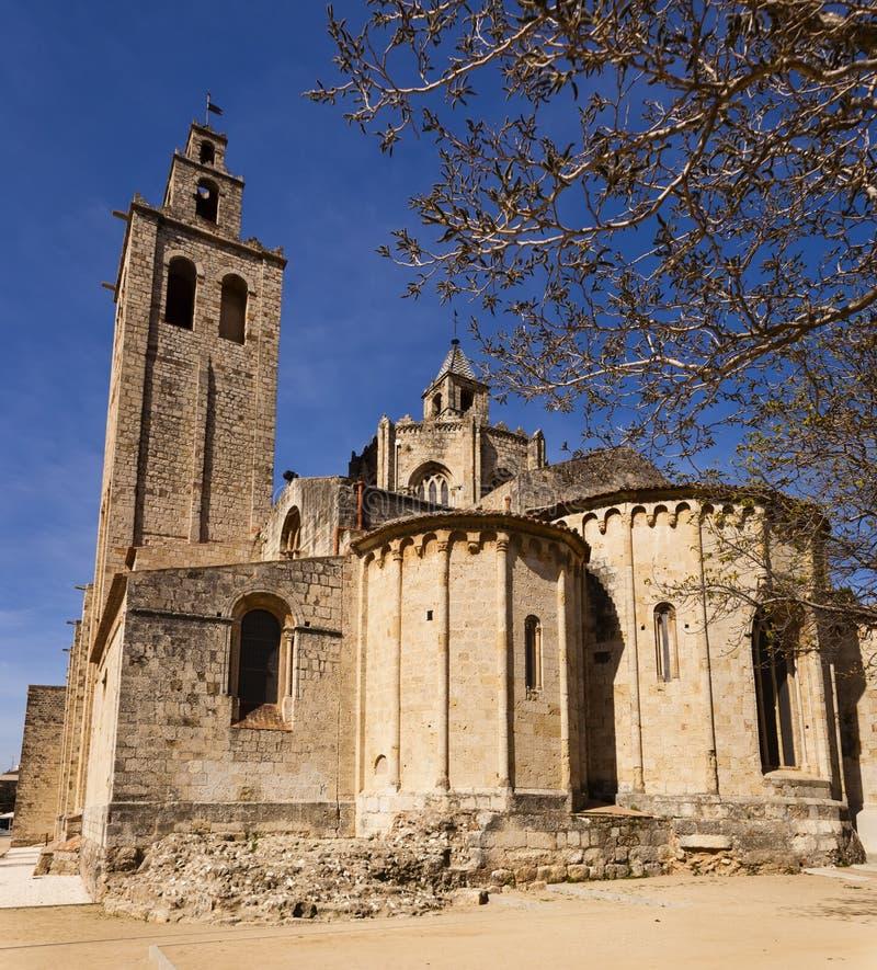 Monastère roman de Sant Cugat, Barcelone photographie stock libre de droits